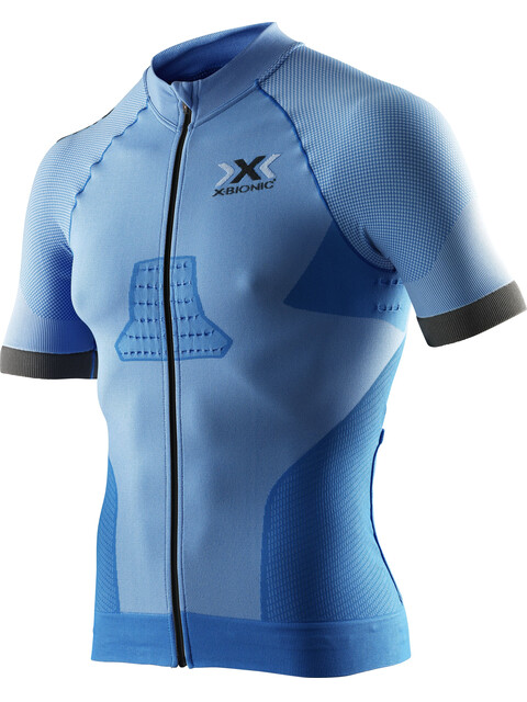 X-Bionic Race EVO Biking Shirt SS Men Marina Blue/Anthracite